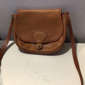 Vintage McGuire Nicholas camel leather saddle bag